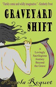 Grave Yard Shift, carte despre moartea cu coasa care merge la bal intr-o rochie eleganta si se indragosteste de un zeu... egiptean, parca.