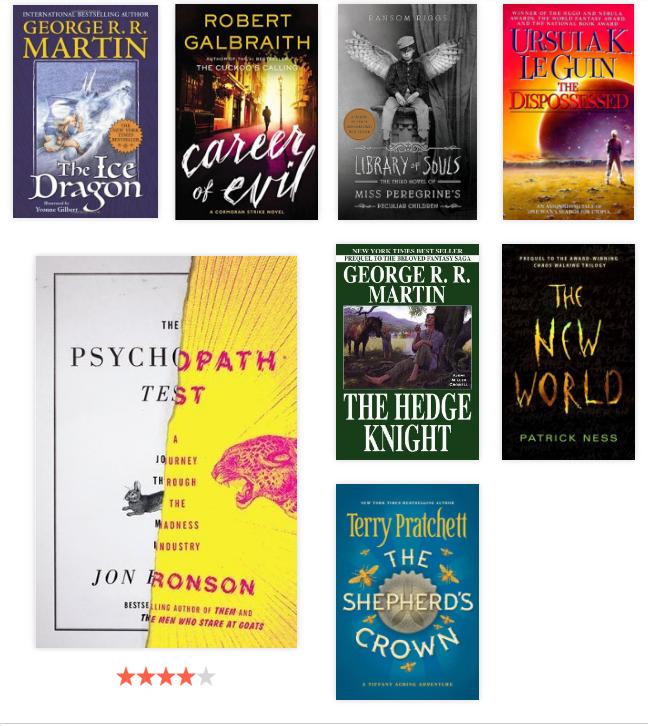 Lista de lectura 2016