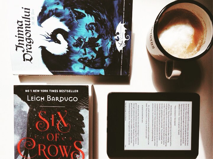 Here's a list of what I'm currently reading:<br /> 1. Six of Crows by #leighbardugo - love the setting and the story, 6 times more than the #grisha trilogy<br /> 2. A Song of Ice and Fire, 4th book in the series, by none other than #georgerrmartin - he shoud have picked a more hashtagable name ??<br /> 3. The Reason for God by #timkeller - a challenging book. Strains your mind with the benefit of making it stronger.<br /> 4. Also I'm rereading #inimadragonului for several reasons: the few typos and mistakes that somehow managed to get in and the next book in the series picks up where this one ended. So I need to revisit the story for coherence sake.<br /> There are 2 more books I've started but don't know when I'll get the time for them, so I've put them on hold. For now.<br /> What books are you reading? Do you read more than a book at a time, like I do?<br /> #coffeelover #dailycoffee #igcoffee #coffeetime #reading #books #sixofcrows #asoiaf #igreads #currentlyreading #origocoffee #homemadecoffee #bookstagram #bookworm #fantasybooks #dragons #vscobooks #cititoridinromania #cititoripasionati #autoriromani #vscoromania