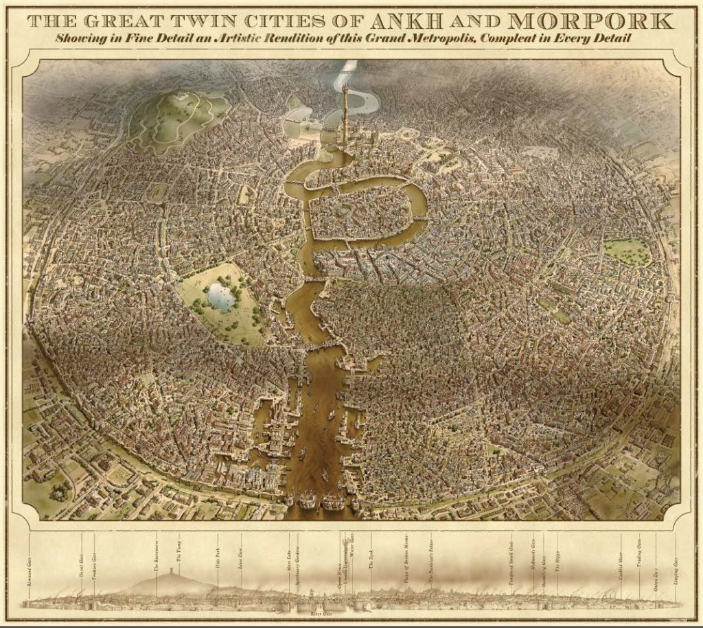 Ankh-Morpork map, the Discworld