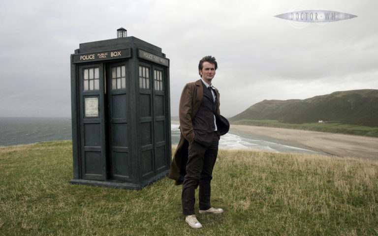Tenth Doctor and the TARDIS, David Tennant, Doctor Who